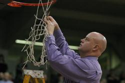 SBU Coach Jeff Guiot Celebrates Another MIAA Title