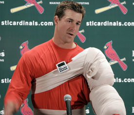 Mulder's timer on his injured shoulder has run out in St. Louis