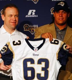 Bell With Head Coach Scott Linehan