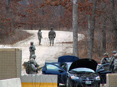 MO National Guard roadblock