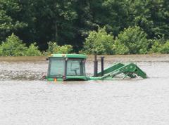 Tractor underwater