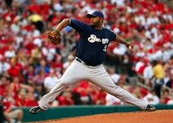 CC Sabathia three CGs in a row (Bill Greenblatt, UPI)