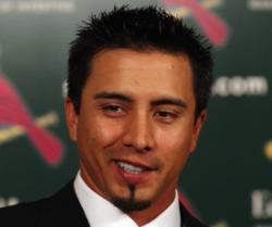 Kyle Lohse has 41 million reasons to smile...if that's a smile?  (Bill Greenblatt, UPI)