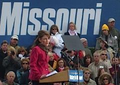 Sarah Palin at Springfield rally