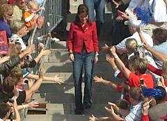 Sarah Palin on steps of State Capitol