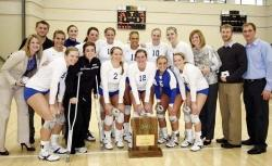 The Billikens celebrate their A-10 title