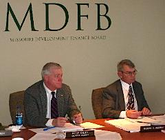 MDFD Chairman Peter Kinder and Executive Director Robert Miserez