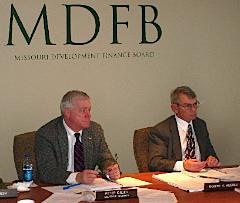 MDFD Chairman Peter Kinder and Executive Director Robert Miserez