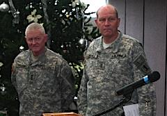Lieutenant General Clyde Vaughn and Adjutant General King Sidwell