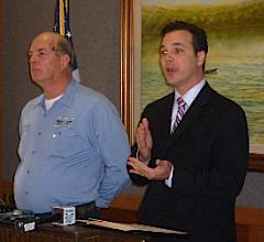 Dave Rouchka and Senator John Loudon