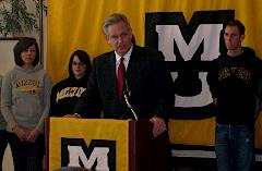 Governor Jay Nixon at University of Missouri-Columbia