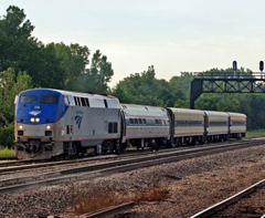Amtrak rail service from St. Louis to Kansas City