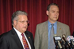 House Speaker Ron Richard and House Budget Director Allen Icet