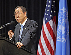 United Nations Secretary General Ban Ki-moon (Bill Greenblatt/UPI)