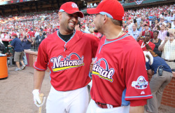 Albert and Yadier share a laugh. Photo by Bill Greenblatt
