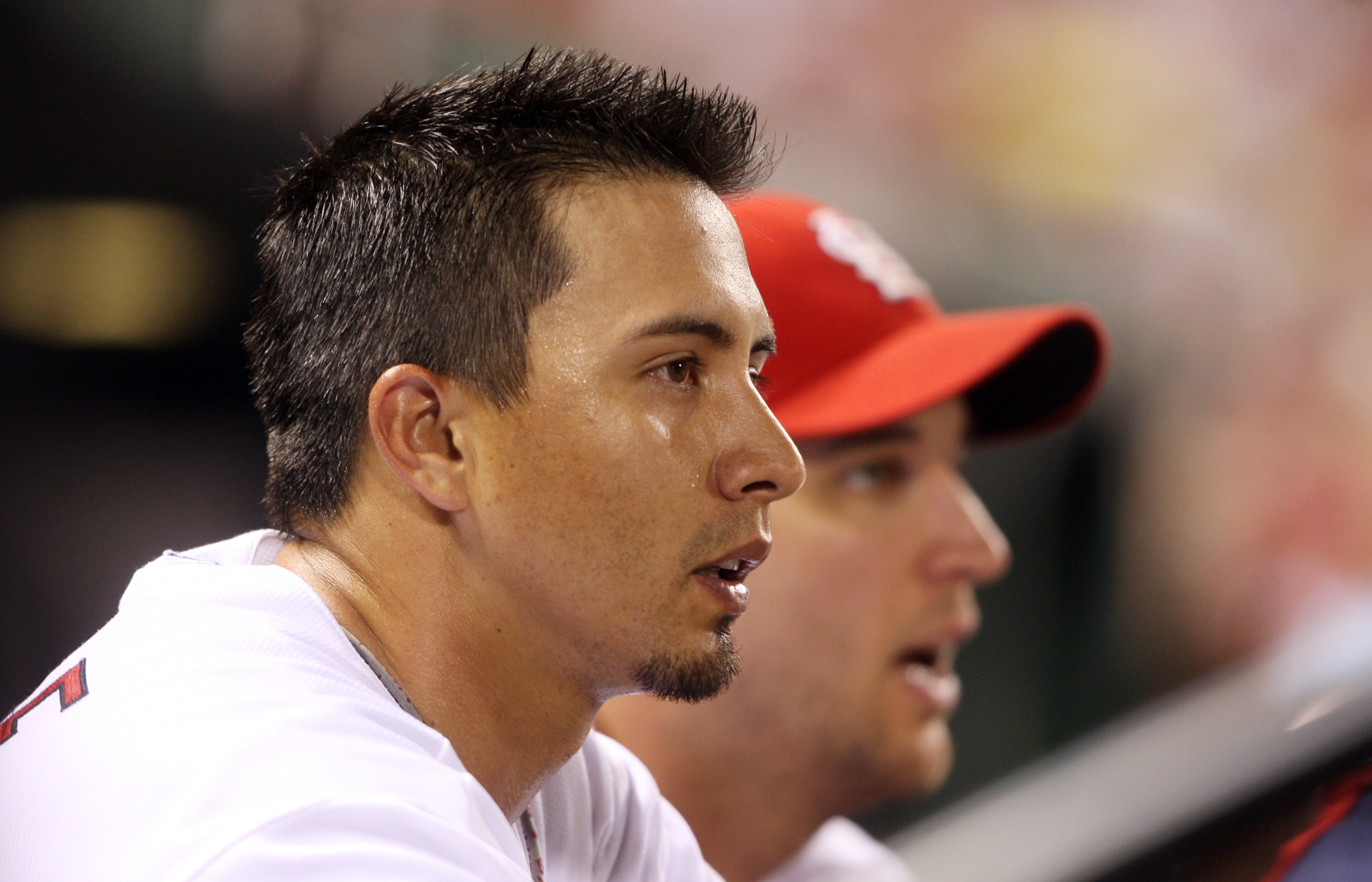Kyle Lohse looks on from the dugout.  Bill Greenblatt, UPI