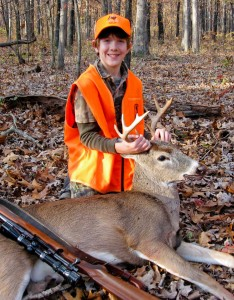 A young Missouri sportsman takes advantage of the state's twice yearly youth deer hunt, only open to kids 6 to 15. (Photo courtesy of Missouri Department of Conservation)