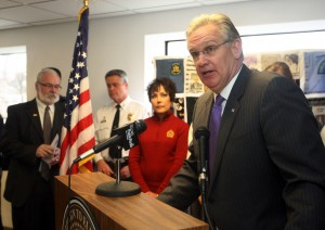 Governor Nixon discusses DWI proposal in Overland, Missouri (UPI / Bill Greenblatt)