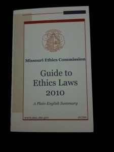 "Missouri Ethics Commission's ""Guide to Ethics Laws 2010"""