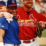 Sammy Sosa and Mark McGwire during the 1998 season (Bill Greenblatt, UPI)
