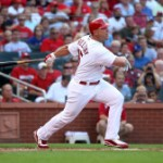 Matt Holliday at Busch Stadium, shortly after being acquired from Oakland in July, 2009.  Bill Greenblatt UPI St. Louis