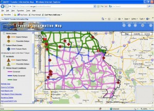 Click the photo to go to MoDOT's traveler information map online.