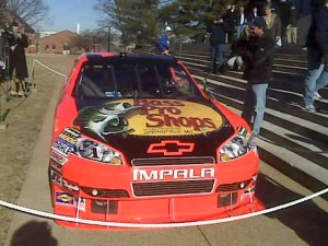 Jamie McMurray cruised the streets of Jeff City and made a pit stop at the Capitol