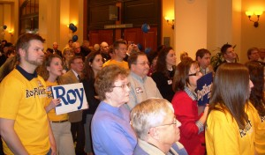 Missouri Republicans listen to Congressman Roy Blunt speak at Lincoln Days
