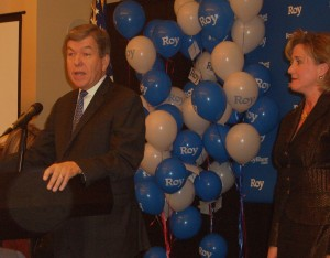 Congressman Roy Blunt and Campaign Manager Ann Wagner at Lincoln Days rally