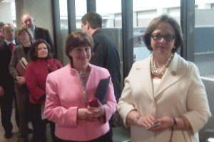 Rep. Lampe and Rep. Schupp wait in line at Secretary of State's office on first day of filing
