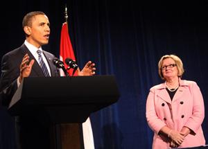 President Obama and Sen. McCaskill
