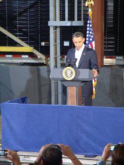 President Obama speaks in Macon, MO