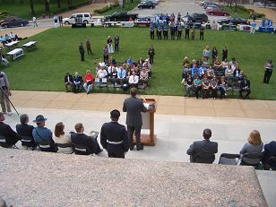 The Crime Victims' Rights Week Ceremony at the Capitol