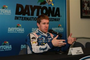 Carl Edwards discusses the new Nationwide car. Motorsports Images and Archives