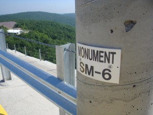 The monuments are used in one of the five seperate volume capacity control systems