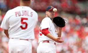 Chris Carpenter and Albert Pujols led the Cards to a 6-0 win over the Reds UPI/Bill Greenblatt