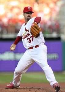 Jeff Suppan makes his return to the Cardinals.  UPI/Bill Greenblatt