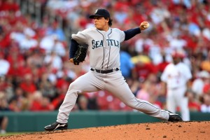 Jason Vargas delivers a pitch a Busch Stadium. UPI/Bill Greenblatt