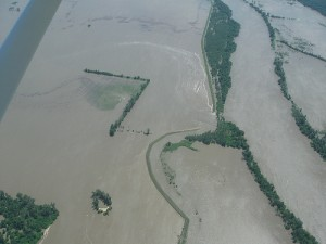 "The breach is upstream from Big Lake Village, south of the confluence of the Missouri and the Tarkio rivers. The Tarkio River is also known as the ""Big Tarkio."""