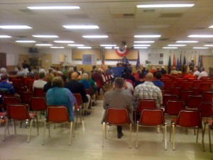 The town hall meeting in Columbia, MO