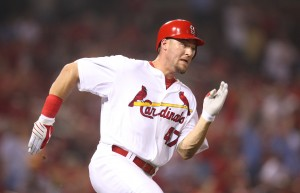 St. Louis Cardinals outfielder Ryan Ludwick, shown in his last at bat with the club in the tenth inning against the Pittsburgh Pirates on July 30, 2010, was dealt in a three-team trade UPI/Bill Greenblatt
