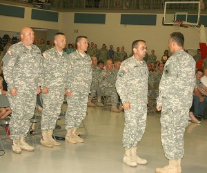 Members of the 4175th receive commission from Adj. Gen. Steve Danner