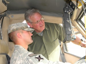 Gov. Nixon gets a demonstration of a MRAP vehicle (Mine Resistant Ambush Protection)