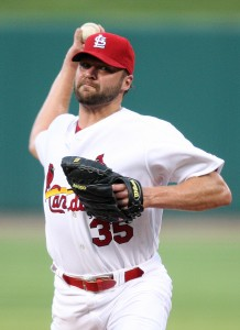 Cardinals starting pitcher Jake Westbrook throws to the Houston Astros in the second inning.  UPI/BIll Greenblatt