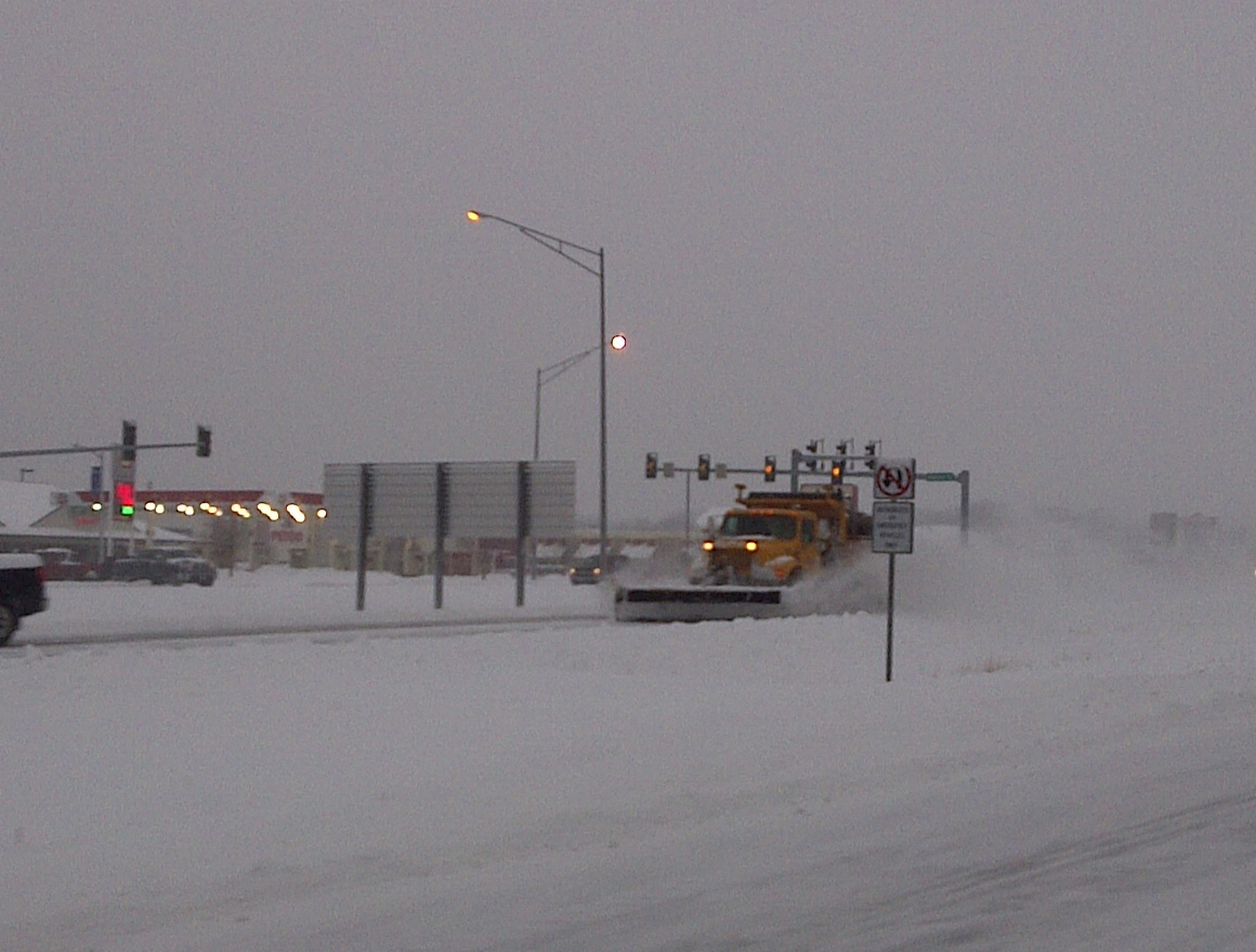 road crews have been at work since the snow started falling Wednesday