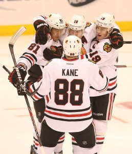 The Blackhawks will be without Patrick Kane (88) for 12 weeks UPI/John Boman Jr