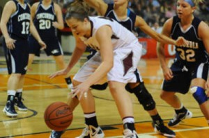 Morgan Smith battles for a loose ball in the semifinals.
