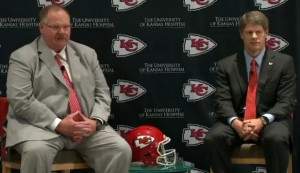 New Chiefs head coach Andy Reid sits down with Chairman Clark Hunt to answer questions from the media