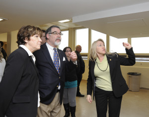 Representatives Sue Allen, Tom Flanigan and Jeannie Riddle tour the Fulton State Mental Hospital.