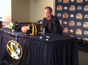 Mizzou football head coach Gary Pinkel fields questions on National Signing Day.